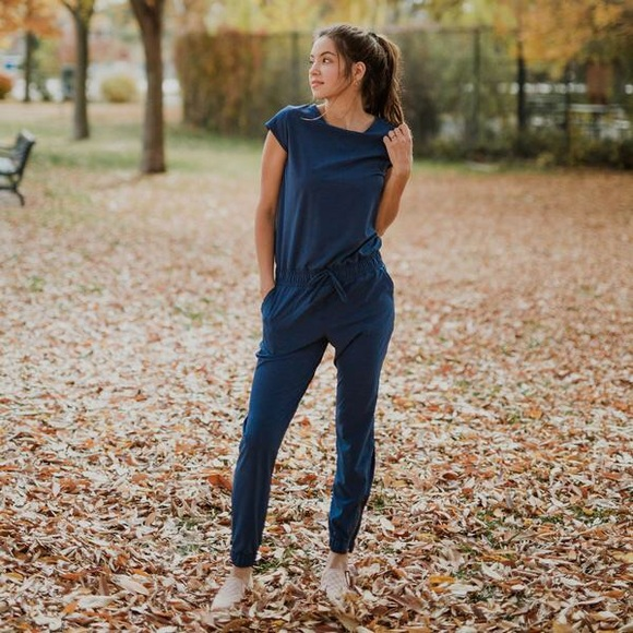 be3840857170 Albion Pants - Albion Fit Jumpsuit in Navy